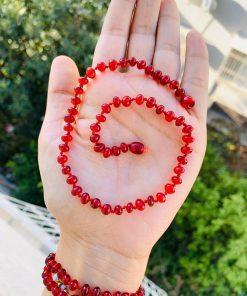 Kırmızı Model Kadın Kehribar kolye
