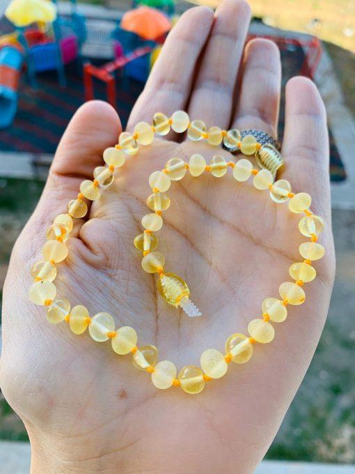 Limon renk Kadın kehribar kolye