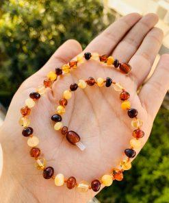 Multicolor Kadın Kehribar kolye 2